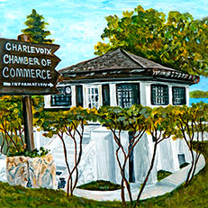 Charlevoix Chamber of Commerce, Circa 1960's by Linda Boss