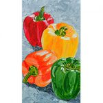 Four Fresh Peppers by Linda Boss