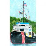 The Coast Guard Cutter Acacia Magnet by Linda Boss