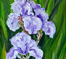 At the Iris Farm by Linda Boss