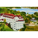 The Beach Hotel of Charlevoix Magnet by Linda Boss
