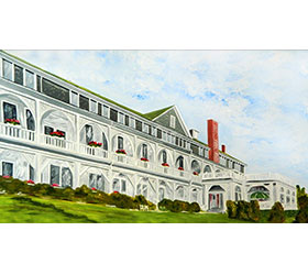 Belvedere Hotel of Charlevoix Magnet by Linda Boss