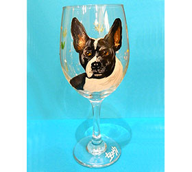 Custom Hand Painted Wine Glass