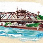 Charlevoix Bridge Drop 2017 Original Painting Study