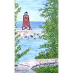 Charlevoix Lighthouse Magnet by Linda Boss