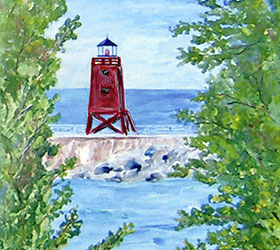 Charlevoix Lighthouse by Linda Boss