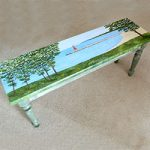 Charlevoix Lighthouse Bench by Linda Boss