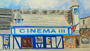 Cinema III Downtown Charlevoix Summer 1978 Magnet by Linda Boss