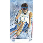 Downhill Skier - Watercolor