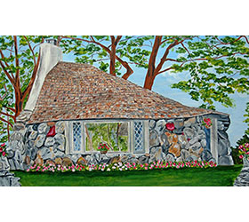 "Earl Young ""Hobbit House"" Half House on Park Ave Prints"