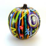 Jewel Abstract on Black Pumpkin by Linda Boss Fine Art