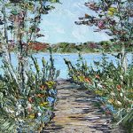 A Lake Michigan Autumn Walk - Print by Linda Boss