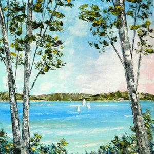 Lake Charlevoix Through the Birch