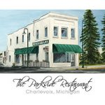 The Parkside Restaurant of Charlevoix Note Cards