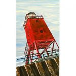 Standing Watch: Charlevoix Lighthouse Magnet