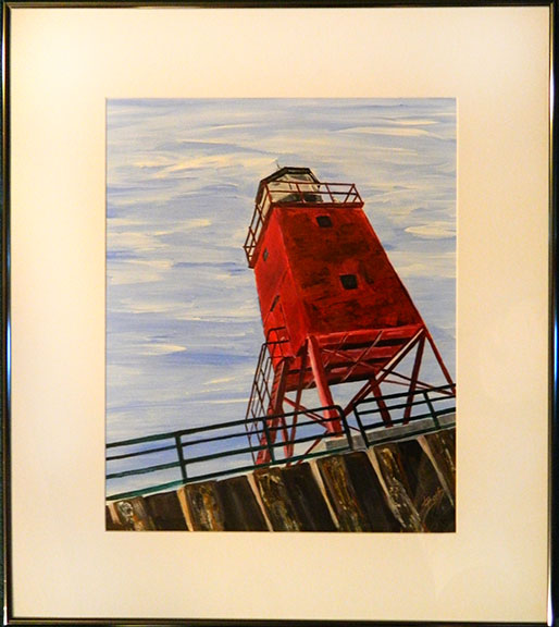 Standing Watch: Charlevoix Lighthouse by Linda Boss