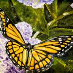 The Garden Visitor Butterfly Note Cards by Linda Boss