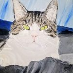 The Prince of Sweden Cat Portrait by Linda Boss Fine Art