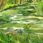 The River's Bend - Painting by Linda Boss