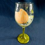 It's a Tulip Party! Wine Glass by Linda Boss