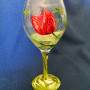 It's a Tulip Party - Red Tulip - Wine Glass