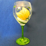 It's a Tulip Party! Yellow Tulip Wine Glass