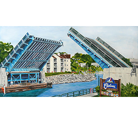 Welcome to Charlevoix Painting Magnet by Linda Boss